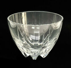 Baccarat France Crystal Glass Footed Bowl In Neptune, Signed
