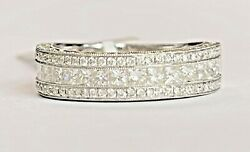 18k White Gold And 1.32ct Diamond Band / Wedding / Ring Women's Antique Style Ring