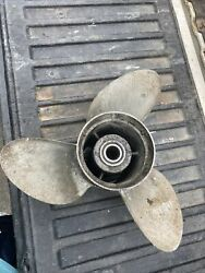 Used Omc / Johnson And Evinrude 15 X 17 Left Hand Stainless Propeller 431930