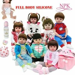 Toy Body Silicone Water Proof Bath Toy Reborn Toddler Baby Dolls Bebe Bottle