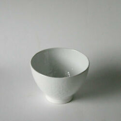 White Porcelain Stone-shaped Rice Bowl Small Pottery Japanese Tableware Made In