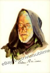 Alec Guinness Signed Classico Postcard Star Wars Autograph