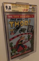 Rare True Believers The Mighty Thor 1 Signed By Stan Lee Cgc 9.8 Auto Jsa Basandnbsp