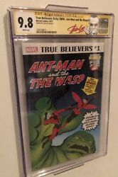 Rare True Believers Ant Man And Wasp 1 Signed By Stan Lee Cgc 9.8 Auto Jsa Basandnbsp