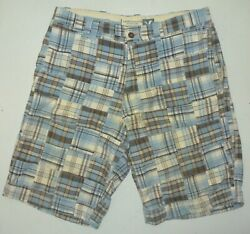 Mens 36 American Eagle Outfitters Aeo Longer Length Madras Shorts