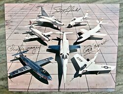 Nasa X-plane Signed Test Pilots Chuck Yeager, Scott Crossfield And Pete Everest