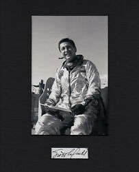 Scott Crossfield Rare The Right Stuff Test Pilot Signed Cut Mated With Photo