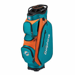 Wilson Nfl Cart Bag And03921 - Miami Dolphins Teal/orange