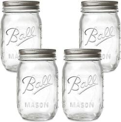 Ball Regular Mouth Mason Jars With Lids And Bands 16-ounces 4-pack