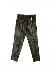 Vintage Gianni Versace Leather Pants Size 52 Miami Collection Rare