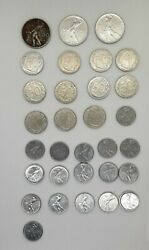 31 Coins 50 Lire Italia Large And Small 1954/1995