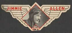 1930s Jimmie Allen Flying Cadet Skelly Gas Premium Promotional Sticker Wings
