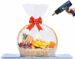 Lazyme Basket Cellophane Shrink Bags 24x30 Inch Wrap Bags Large...