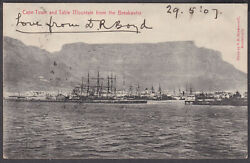 1907 Cogh Cape Town Via Paddington To Ealing Ct Andtable Mountain From Breakwater