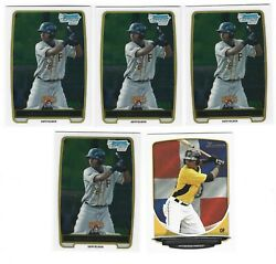 Lot Of 5 Gregory Polanco Bowman And Bowman Chrome Rookies Pirates