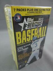 2012 Topps Heritage Blaster Box Factory Sealed 8 Packs Relics Autos And More
