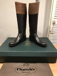 Church's Martina Black/brown Leather Riding Boots Size 36.5 New Only