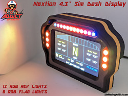 Nextion 4.3and039and039 Sim Racing Dash Display Enclosure With Leds// Phone Holder Fanatec