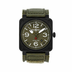Bell And Ross Br 03-92 Military Type Auto Pvd Steel Mens Watch Date Br0392-mil-ce