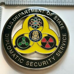 Badge Challenge Coin Police Msg Det Embassy Fbi Diplomatic Security State Wmd Ds