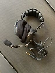 Avcomm Ac-454pnr Aviation Headset With Push To Talk Switch / Helicopter Airplane