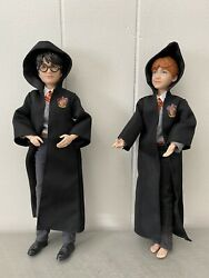 Lot Of 2 Harry Potter 10 Mattel Dolls Ron Weasley And Harry - Movie Toys Uniform