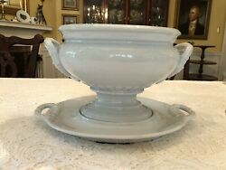 Antique J Wedgewood Ironstone China Footed Soup Tureen/matching Base Oct 1852