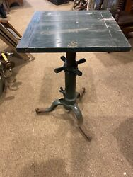Rare Antique Cast Iron Typewriter Stand Heavy Duty Or Side Table Screw Style