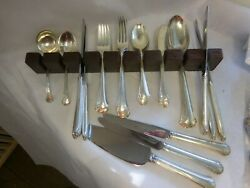Towle 1937 Chippendale Sterling Silver Flatware Set For 8 No Monogram 46 Pc