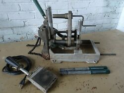 Mcelroy Model 2cu Pipe Fusion Machine Set 2in Benchtop Trench Poly Pipe Welder