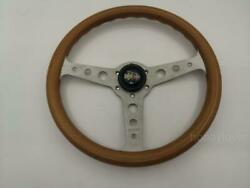 Vintage Momo Italy 1991 Wood Steering Wheel W/ Horn Button Super Indy A260