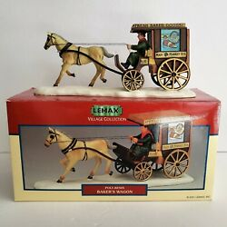 Lemax Village Collection 2001 Bakers Wagon Horse Drawn Carriage 13370a Christmas