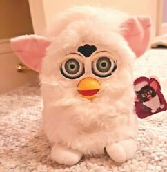 Rare Generation One 1998 Furby Snowball White Green Eyes. Works See Video