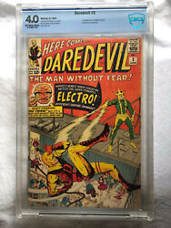 Daredevil 2 Cbcs 4.0 Like Cgc Ow/wp 2nd Appearance Of Daredevil And Electro
