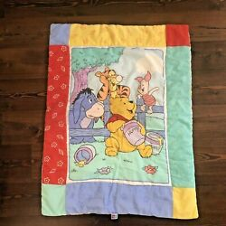 Winnie The Pooh Baby Comforter Blanket Quilted Disney 1998 Little Bedding Tigger