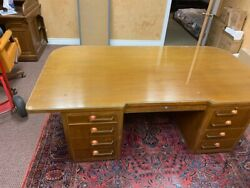 5 Pc High-end Mid-century Stow And Davis Executive Desk Telephone And Crendenza Set