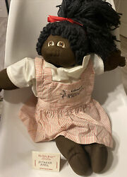 1980 Cabbage Patch Kids Little People Soft Sculpture, African American Signed