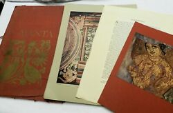 1956 Folio Of Ajanta India Cave Paintings, 20 Tipped-in Color Plates 18 X 14