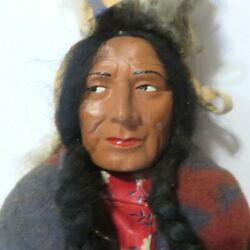 Skookum Bully Good The Great Indian Native American Doll 15vintage Antique 4067