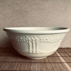 Vintage Homer Laughlin Cream Colored Tree Mixing Bowl