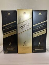 Johnnie Walker Gold Label And Black Label - Empty 750 Ml Bottle With Box🚀📦