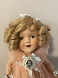 Danbury Mint Shirley Temple The Worlds Darling Porcelain Doll - Pink Dress