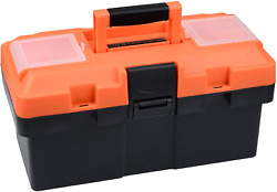 Plastic Tool Box, 14 -inch Portable Tool Box Plastic Toolbox With Removable Tool