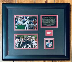 2007 Boston Red Sox Limited Edition Word Series Rare Framed Mlb Baseball Relic