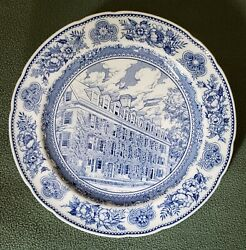 Vintage Wedgwood 10.5 Yale Plate Of Connecticut Hall From 1752. Wedgwood 1931