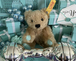 """Tiffanyandco Barbell Baby Rattle Bear Stars Ball Tether Sterling Silver 5.25"""" Box"""