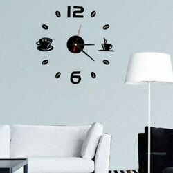 Wall Clock Sticker Decor Watch Gifts Large Black Number Office Art Decal 2018