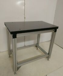 Crated Tmc Optical Breadboard Table, Bosch Adjustable T-slot Bench