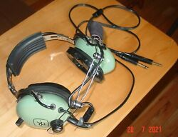 David Clark H10-50 Aircraft Pilot Headset Dual Plug Used Working Complete