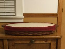 Longaberger Oval,serving Tray Combo - Complete